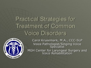 Strategies for Treatment of Common Voice Disorder (image)